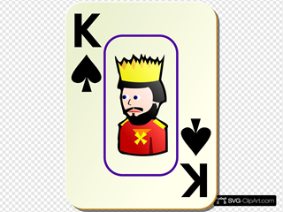 Bordered King Of Spades