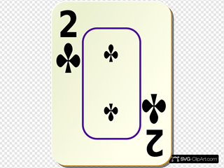 Bordered Two Of Clubs