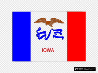 Us Iowa Flag