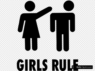 Girls Rule Sign