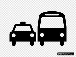 Ground Transportation Symbol Sign