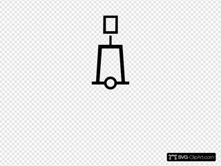 Nautical Symbol International Tower Beacon