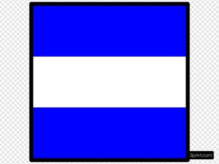 International Maritime Signal Flag Juliet