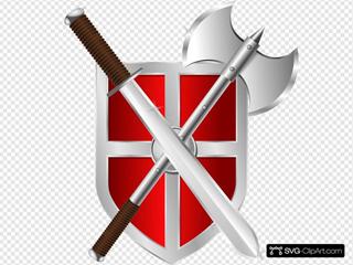 Sword Battleaxe Shield