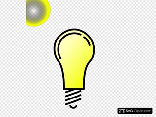 Lightbulb-brightlit SVG Clipart