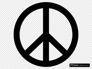 Peace Symbol Silhouette