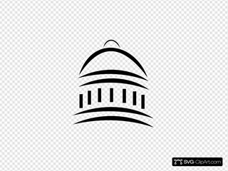 Gov Building Symbol Clipart
