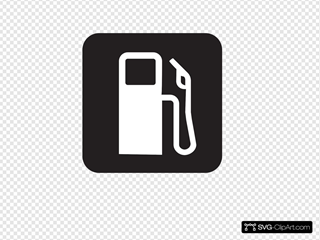 Gas Station Black Clipart