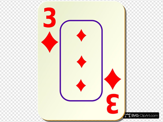 Bordered Three Of Diamonds