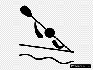 Olympic Sports Canoeing Slalom Pictogram