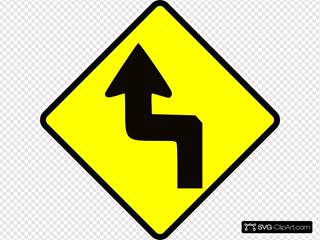 Caution Zig Zag