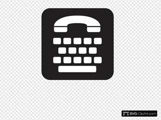 Telephone Typewriter Type Writer Service Black