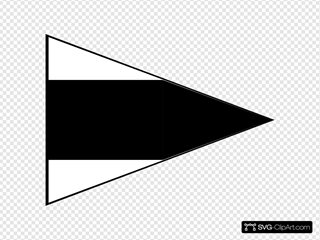 Black And White Signal Flag