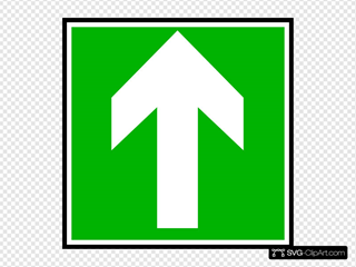 Directional Sign Continue Straight Clipart