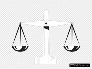 Scale Of Justice 1 SVG Clipart