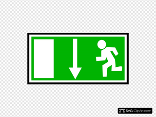 Emergency Exit Clipart