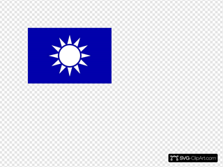 National Flag Of Republic Of China (taiwan) In Svg Format