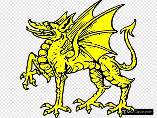Gold Dragon Symbol