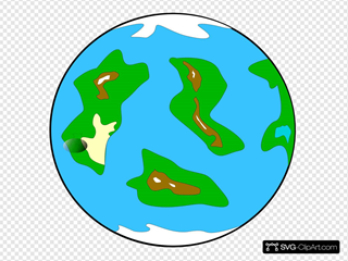 Planet Symbol Globe SVG Clipart
