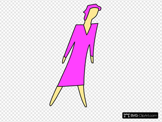 Cartoon Lady Walking