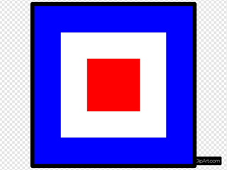 International Maritime Signal Flag Whiskey
