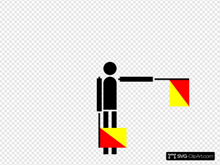 Semaphore Foxtrot SVG Clipart
