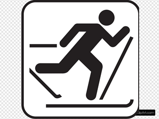 Ice Skiing Map Sign