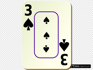 Bordered Three Of Spades