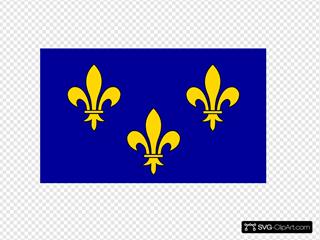 Flag Of The Ile De France