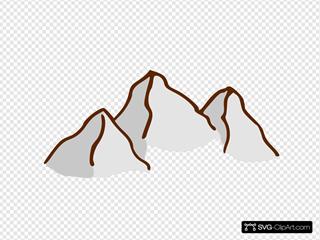 Rpg Map Symbols Mountains 2