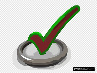 D Render Of Check Mark Symbol In Circle