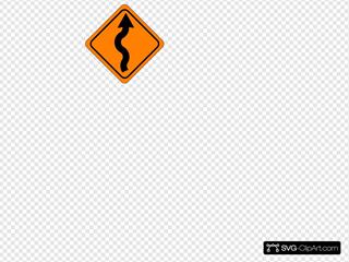 Curvy Road Sign
