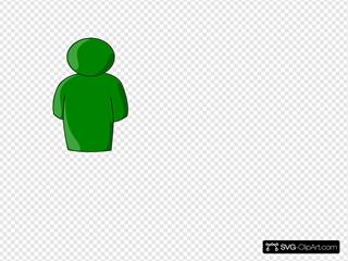 Person Buddy Symbol Green