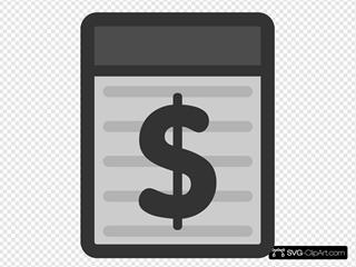 Dollar sign gray. Free symbol svg clipart