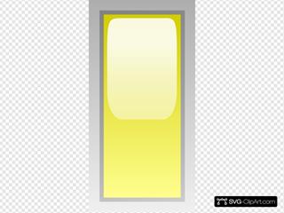 Led Rectangular V (yellow)