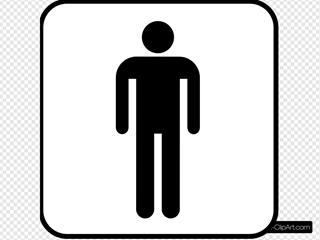 Male Sign Bathroom Bw Boarder