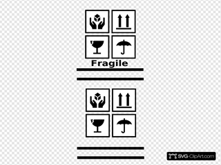 Fragile Symbols SVG Cliparts