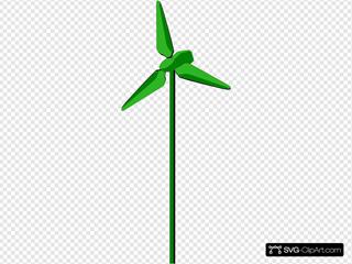 Energy Positive Wind Turbine Green