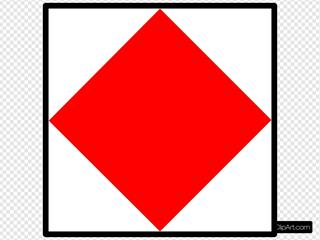International Maritime Signal Flag Foxtrot SVG Clipart