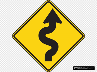 Right Winding Road SVG Clipart