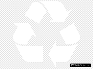 White Recycle Symbol
