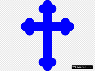 Blue Cross SVG Cliparts