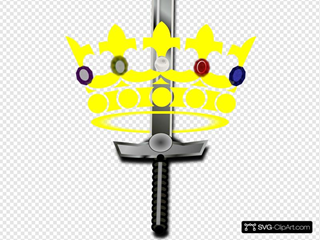 Jeweled Crown With Sword