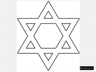 Star Of David Outline