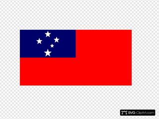 Flag Of Samoa Clipart