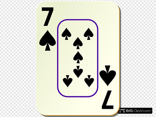 Bordered Seven Of Spades
