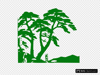 Green Trees Silhouette