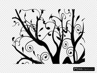 Branch Vine Swirl Tree