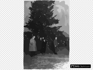 President Coolidge Illuminating The Community Christmas Tree, Which Has Been Erected On The Monument Grounds, South Of The White House