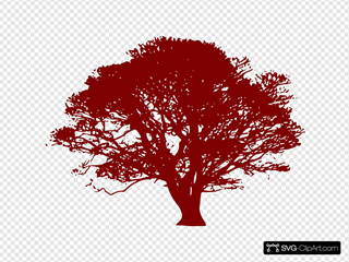 Red Wedding Tree For Invitation